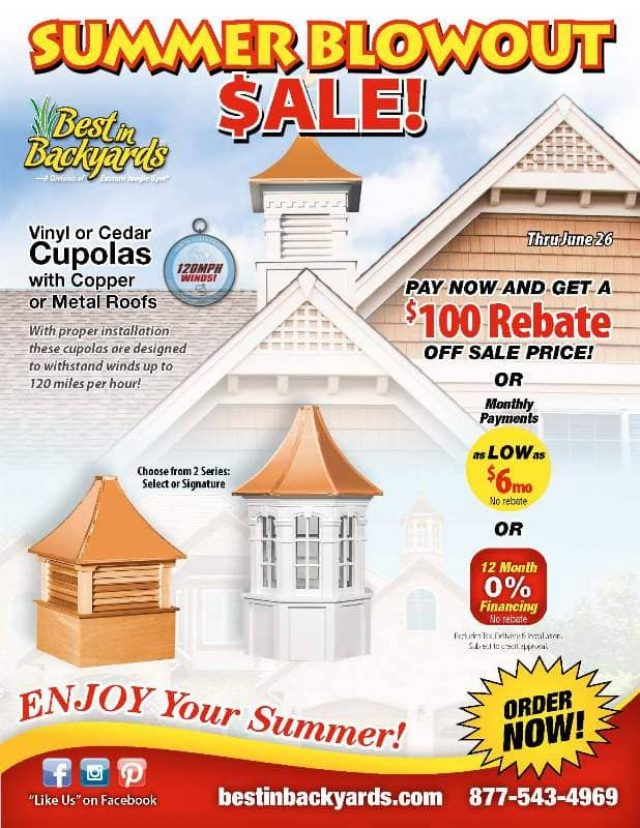 Cupolas and Weathervanes June Cover