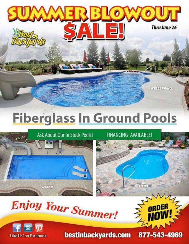 Inground Fiberglass Pools Cover