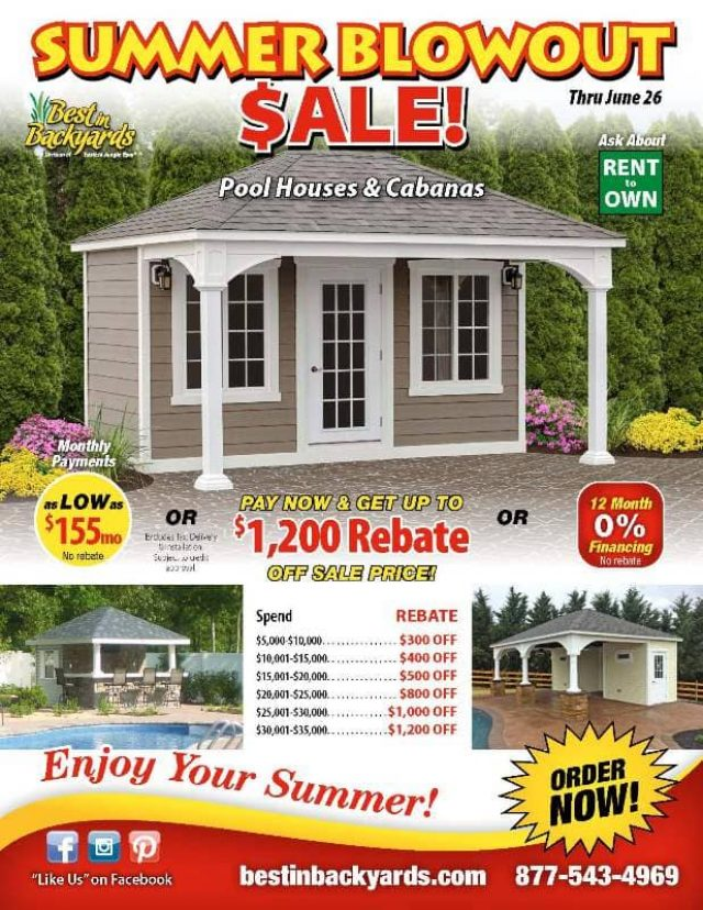 Pool Houses and Cabanas June Cover