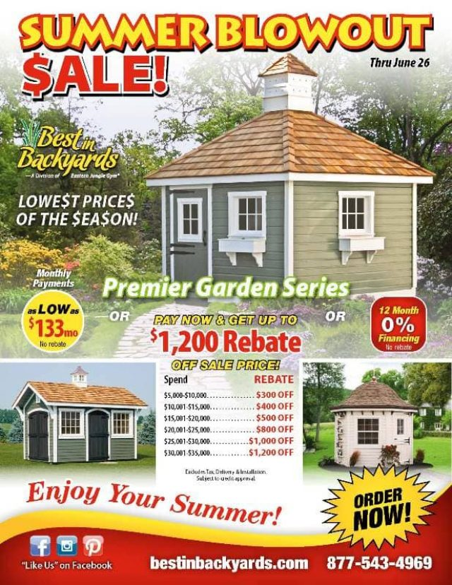 Premier Garden Series Shed June Cover