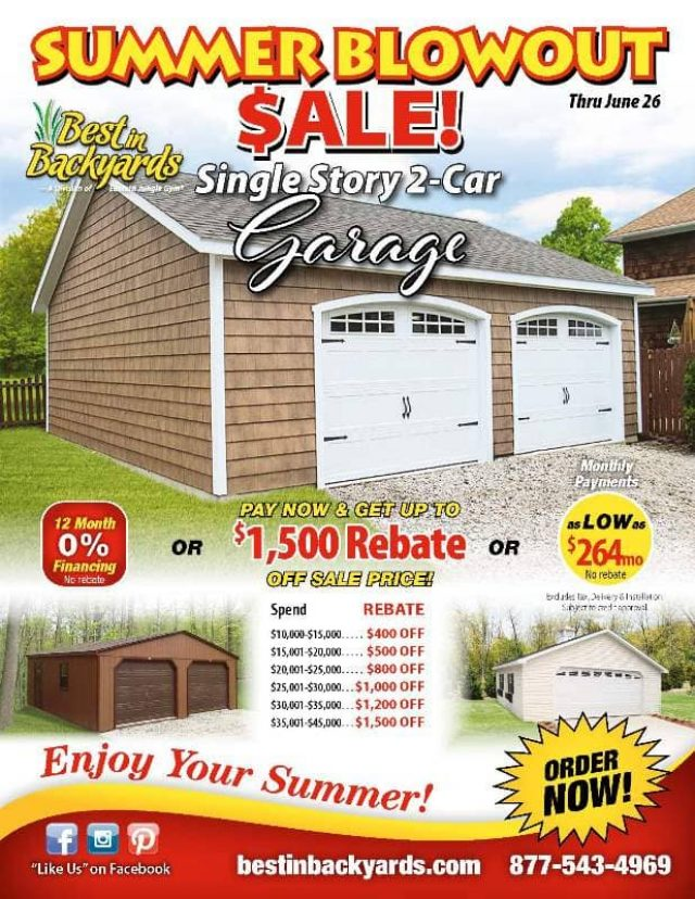 Single Story Two Car Garage June Cover