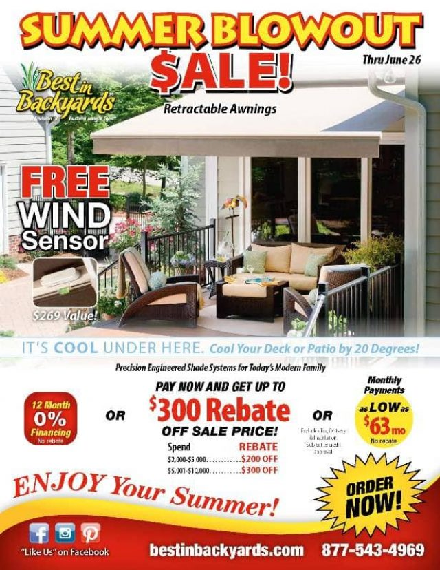Solair Retractable Awnings June Cover
