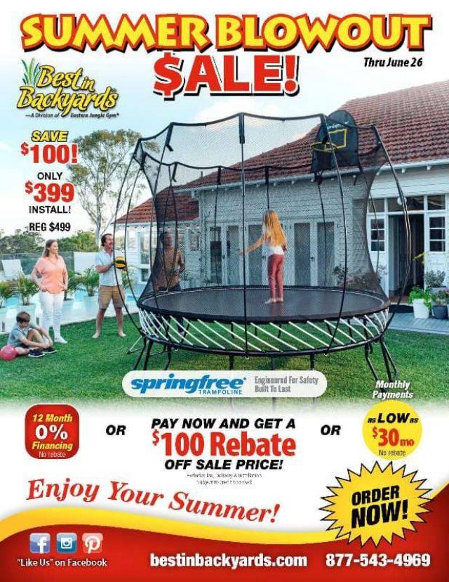 Springfree Trampoline June Cover