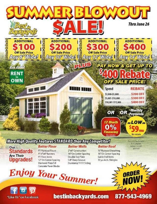 Storage Sheds June Cover