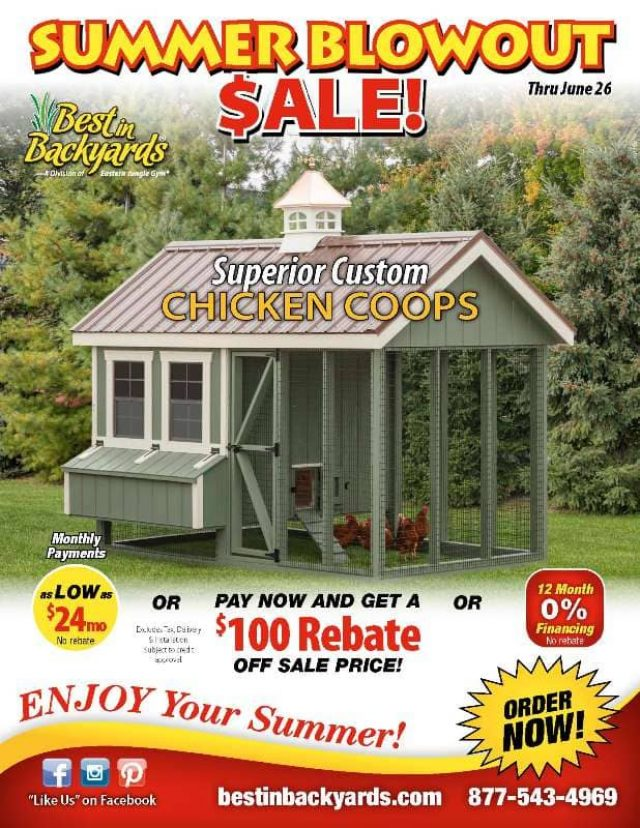 Superior Custom Chicken Coops June Cover
