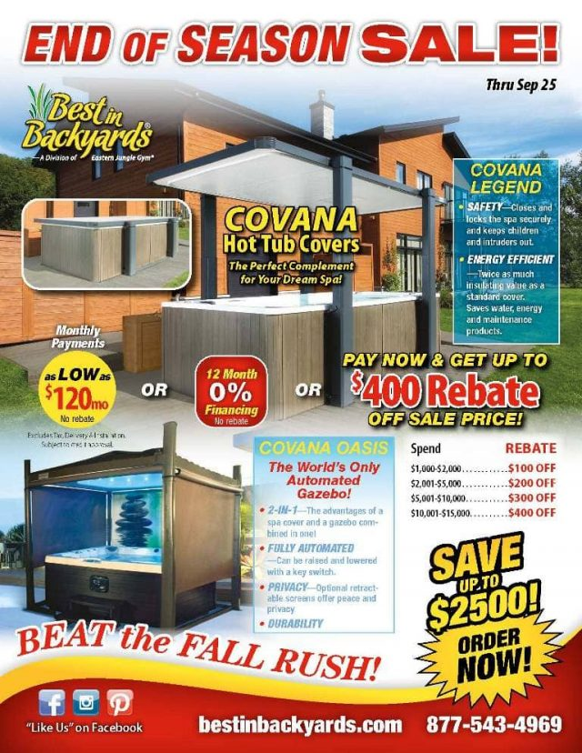 Covana Hot Tub Covers September Cover