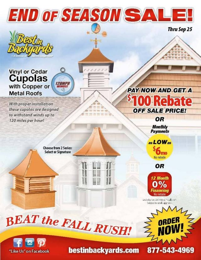 Cupolas and Weather Vanes September Cover