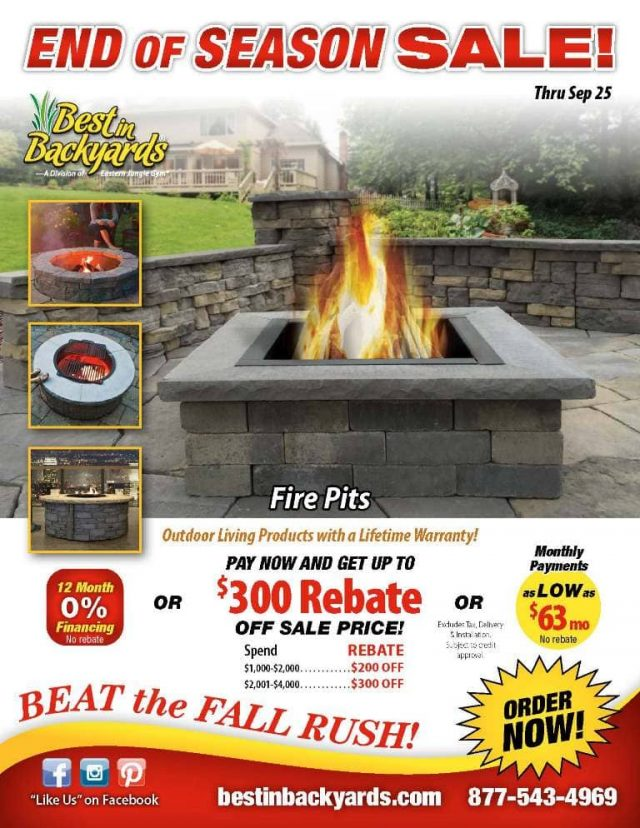 Custom Outdoor Fire Pits September Cover