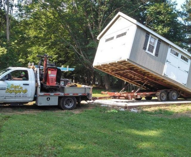 Eastern Jungle Gym Shed Trucks Install