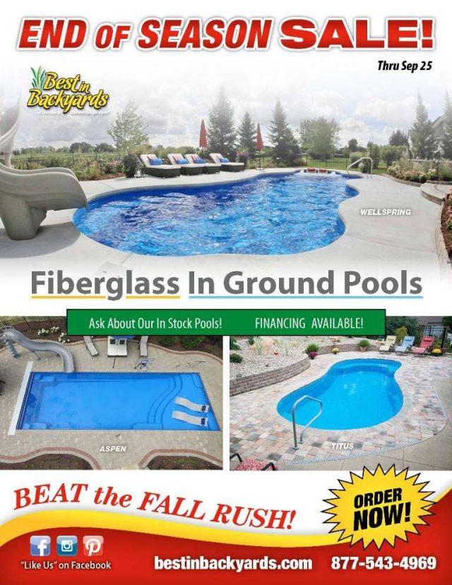 Fiberglass Inground Thursday Pools September Cover