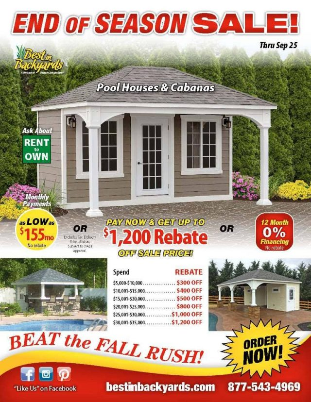Pool Houses and Cabanas September Cover