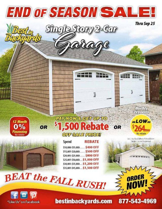 Single Story 2 Car Garage September Cover