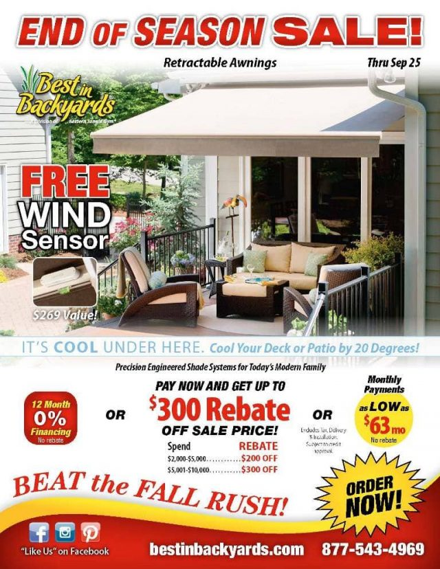 Solair Retractable Awnings September Cover