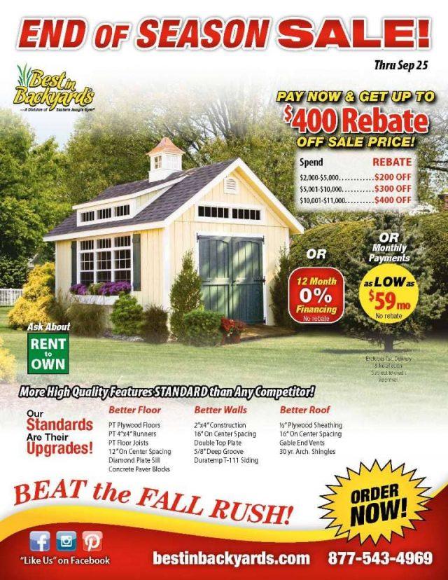 Storage Sheds September Cover