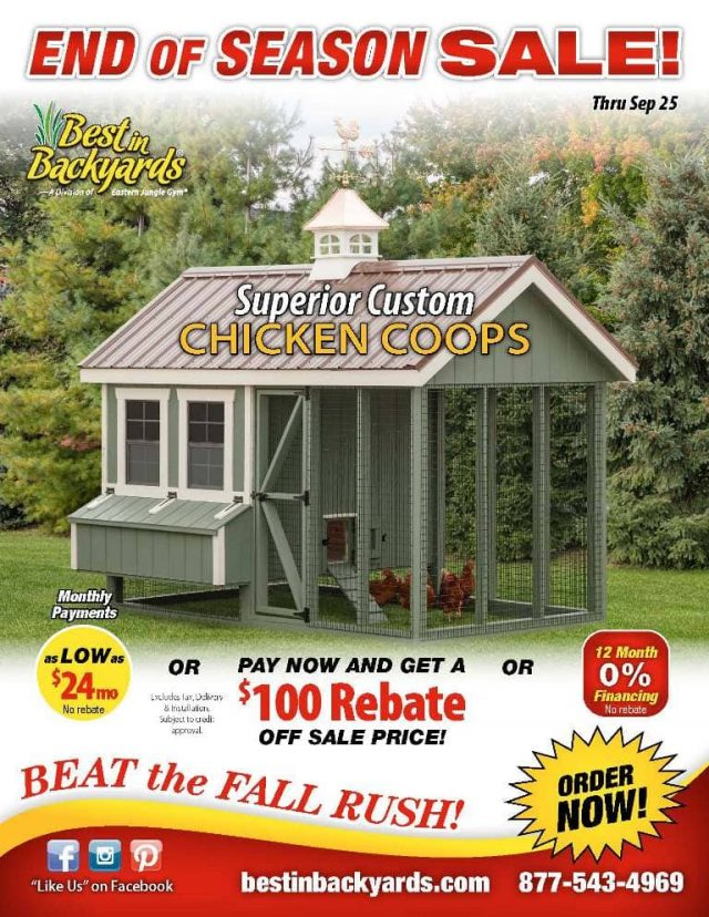 Superior Custom Chicken Coops September Cover