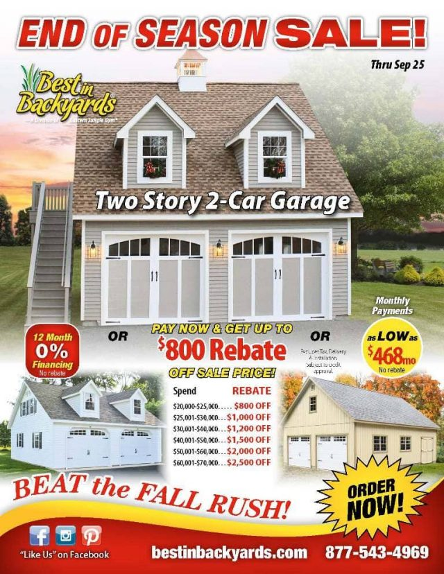 Two Story 2 Car Garage September Cover